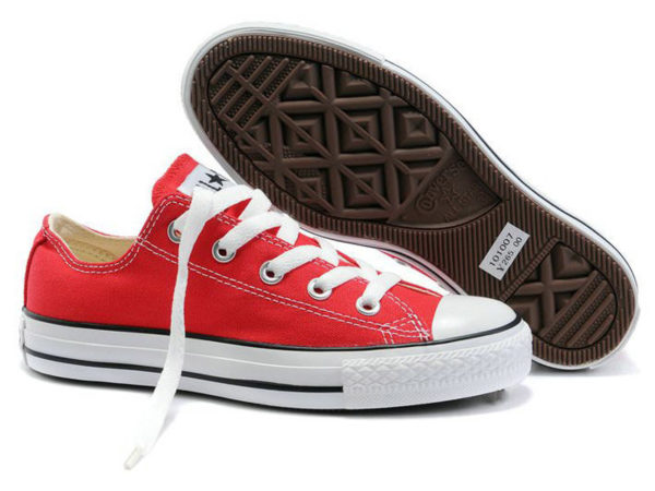 Кеды Converse Chuck Taylor All Star красные подростковые и женские