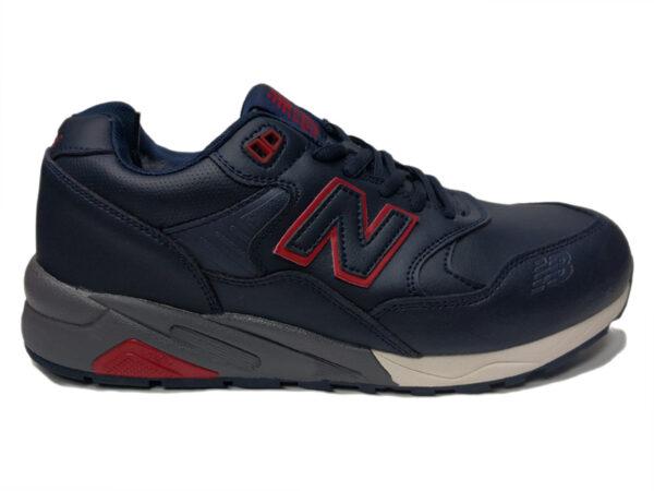 New Balance 580 на меху темно-синие с красным (40-46)