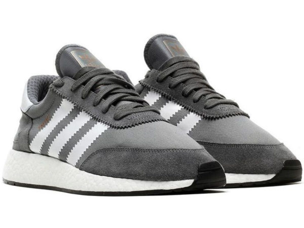 Adidas Iniki Runner Boost серые с белым (40-45)