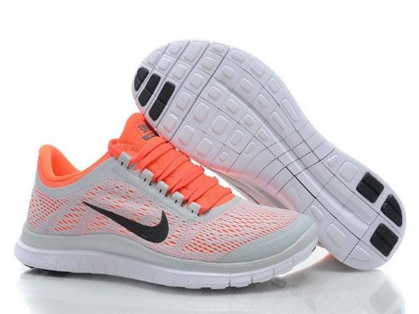 Nike Free Run 3.0 v5 серые с оранжевым (35-40)