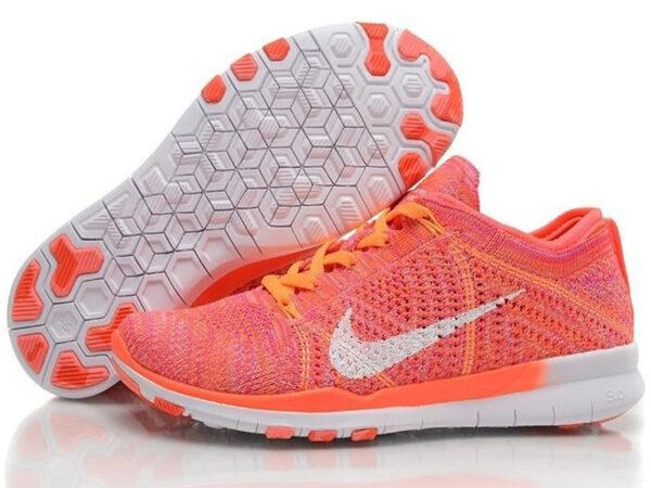 Nike Free Run Flyknit 5.0 оранжевые (35-40)
