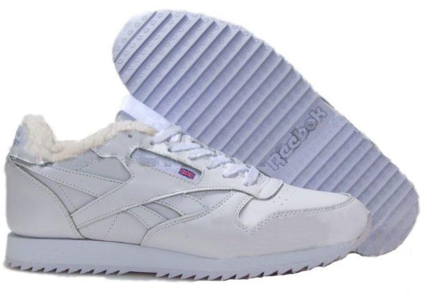 Зимние белые кроссовки