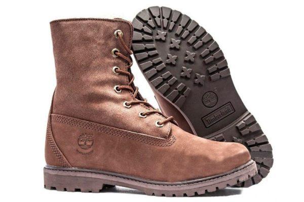 Коричневые ботинки Timberland