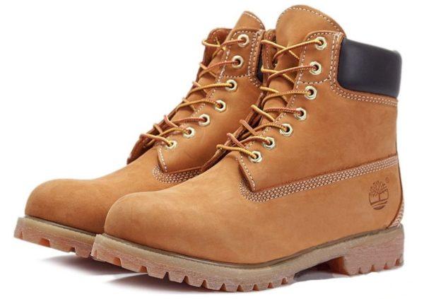 Ботинки Timberland Classic с мехом светло-коричневые 36-46