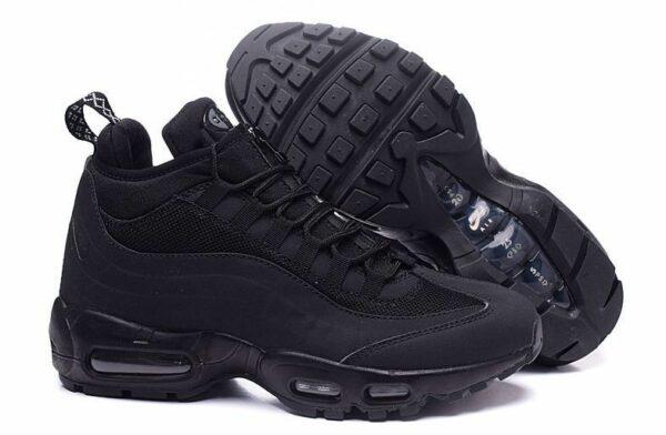 Зимние Nike Air Max 95 Sneakerboot Black черные (40-44)