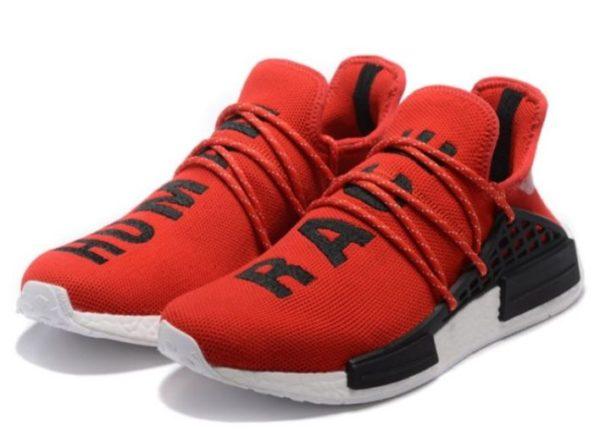 Кроссовки Adidas NMD Human Race красные с черным (40-44)