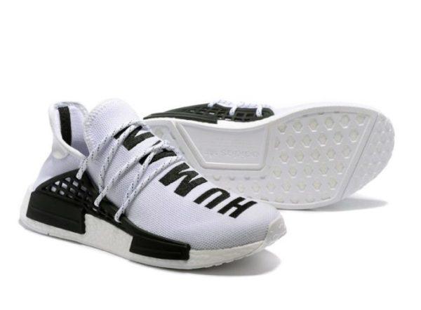 Кроссовки Adidas NMD Human Race белые с черным (40-44)