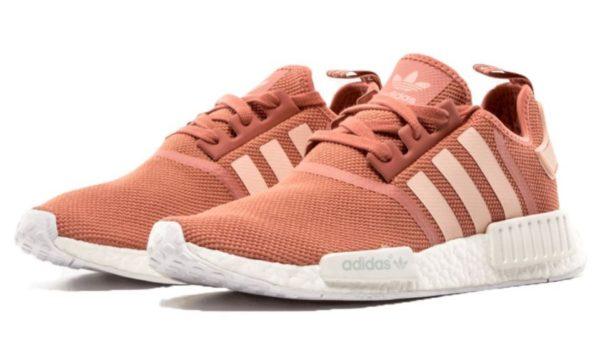 Adidas NMD R1 розовые с белым (35-39)