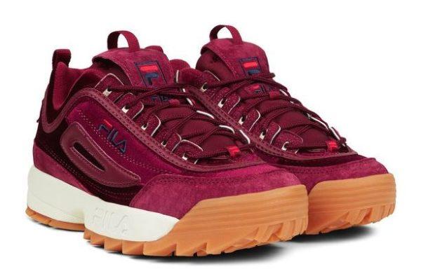 Бордовые кроссовки Fila