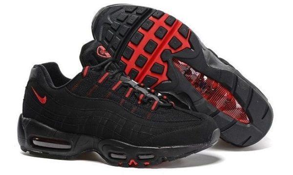Nike Air Max 95 Black черные с красным (40-45)