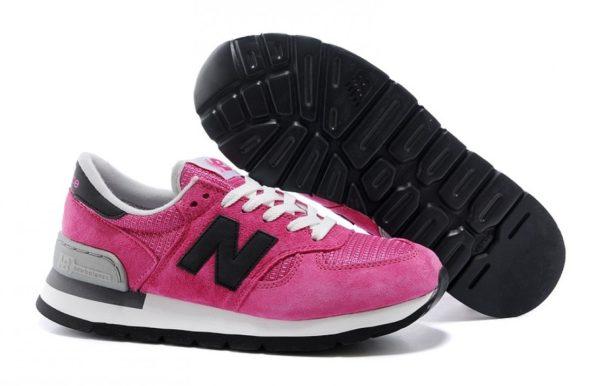 New Balance 990 женские pink розовые с черным (35-39)