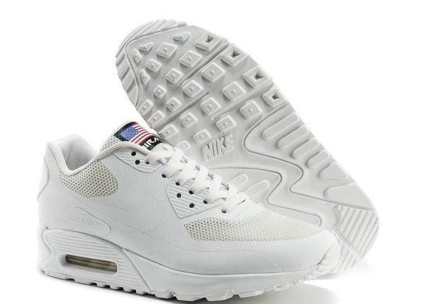 Nike Air Max 90 Hyperfuse White белые USA (41-44)