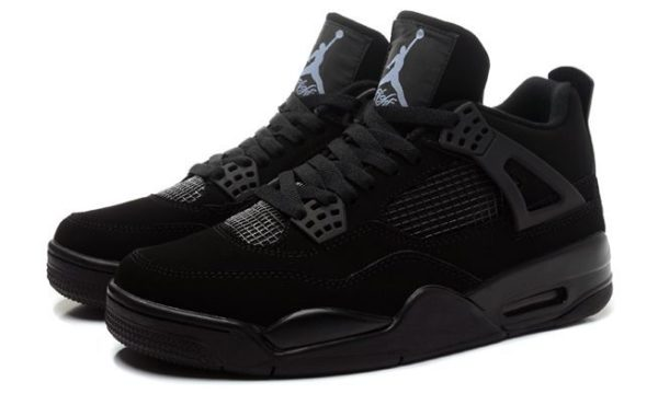 Nike Air Jordan 4 Retro черные (35-44)
