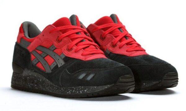 Asics Gel Lyte 3 черные с красным (39-44)