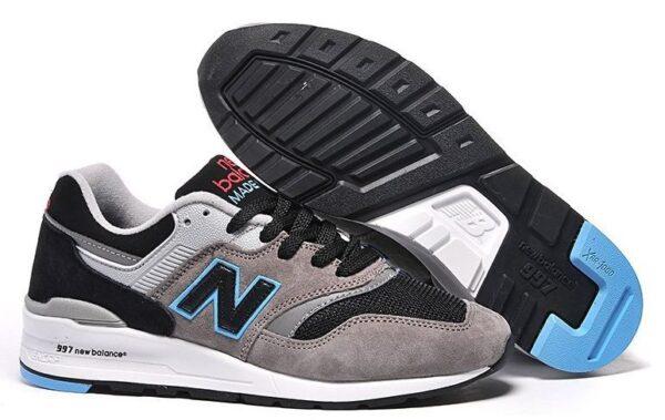 New Balance 997 серые с черным и синим (35-39)