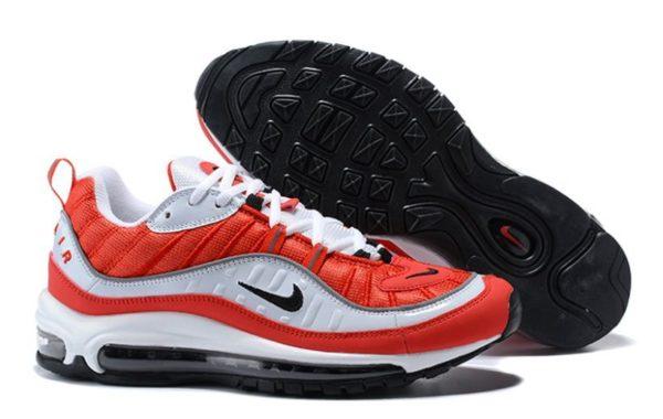 Nike Air Max 98 красные с белым (35-44)