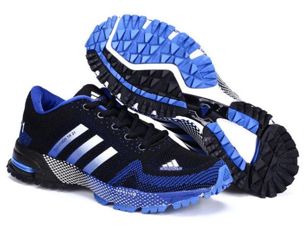 Adidas Marathon tr21 черно-синие (39-43)