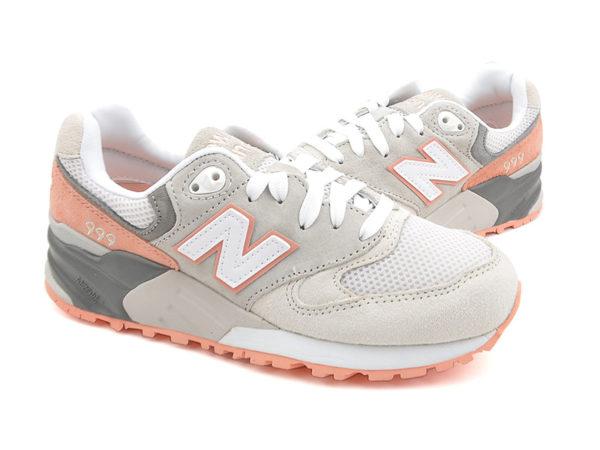 New Balance 999 серые с оранжевым (36-40)