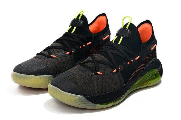 Under Armour Curry 6 чёрные-зелёные-оранжевые (40-45)