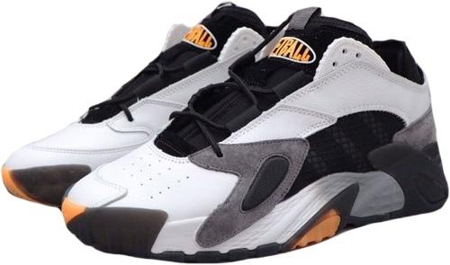 Adidas Streetball серые-белые-чёрные кожа-замша мужские (40-44)