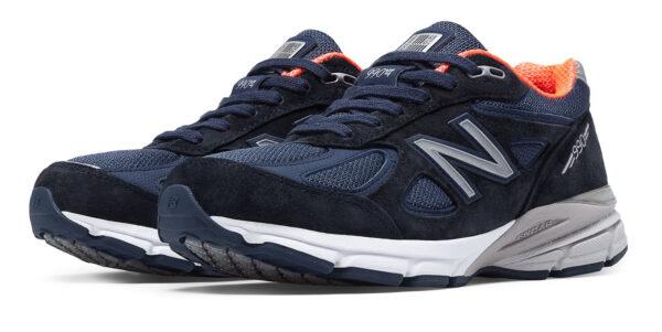 New Balance 990 синие замша-сетка мужские (40-44)