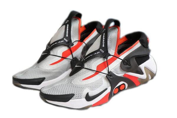 Nike Adapt Huarache серые с красным и черным мужские (40-44)