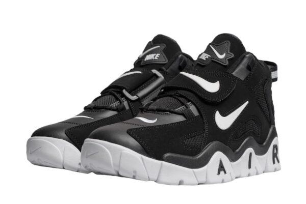 Nike Air Barrage Mid QS черные-белые кожа-нубук мужские (40-44)
