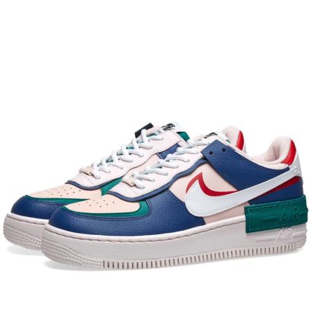 "Nike Air Force 1 Shadow ""Mystic Navy"" разноцветные кожаные мужские-женские (35-44)"