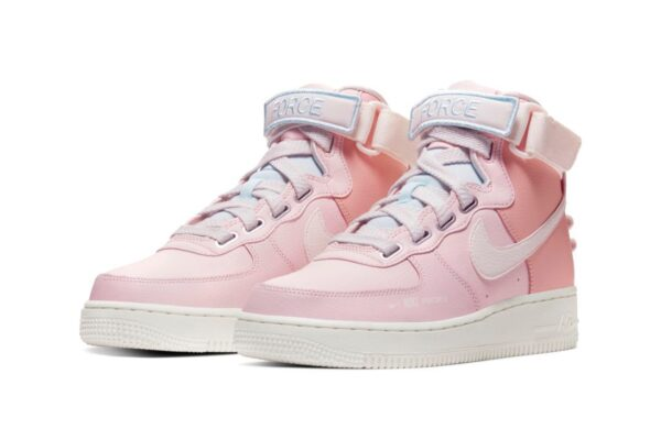 Nike Air Force 1 Utility Mid розовые кожаные женские (35-39)