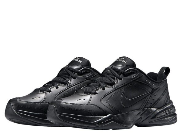 Nike Air Monarch черные кожаные женские (35-39)