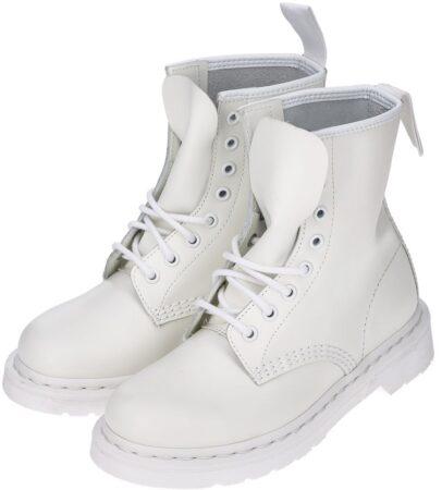 Белые ботинки Dr. Martens