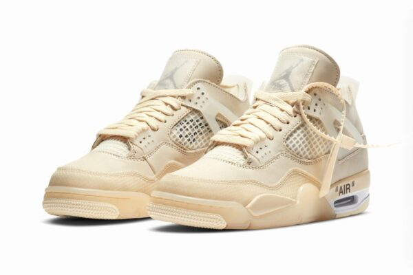 Nike Air Jordan 4 off White Sail бежевые (35-44)